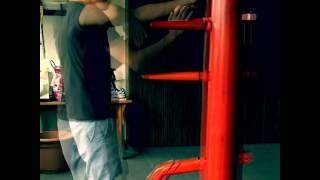 Slow-Mo Wing Chun on Wooden Dummy