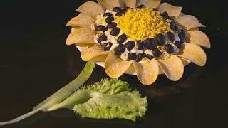 Классический рецепт салата Подсолнух с чипсами.Olia Kozyr TV