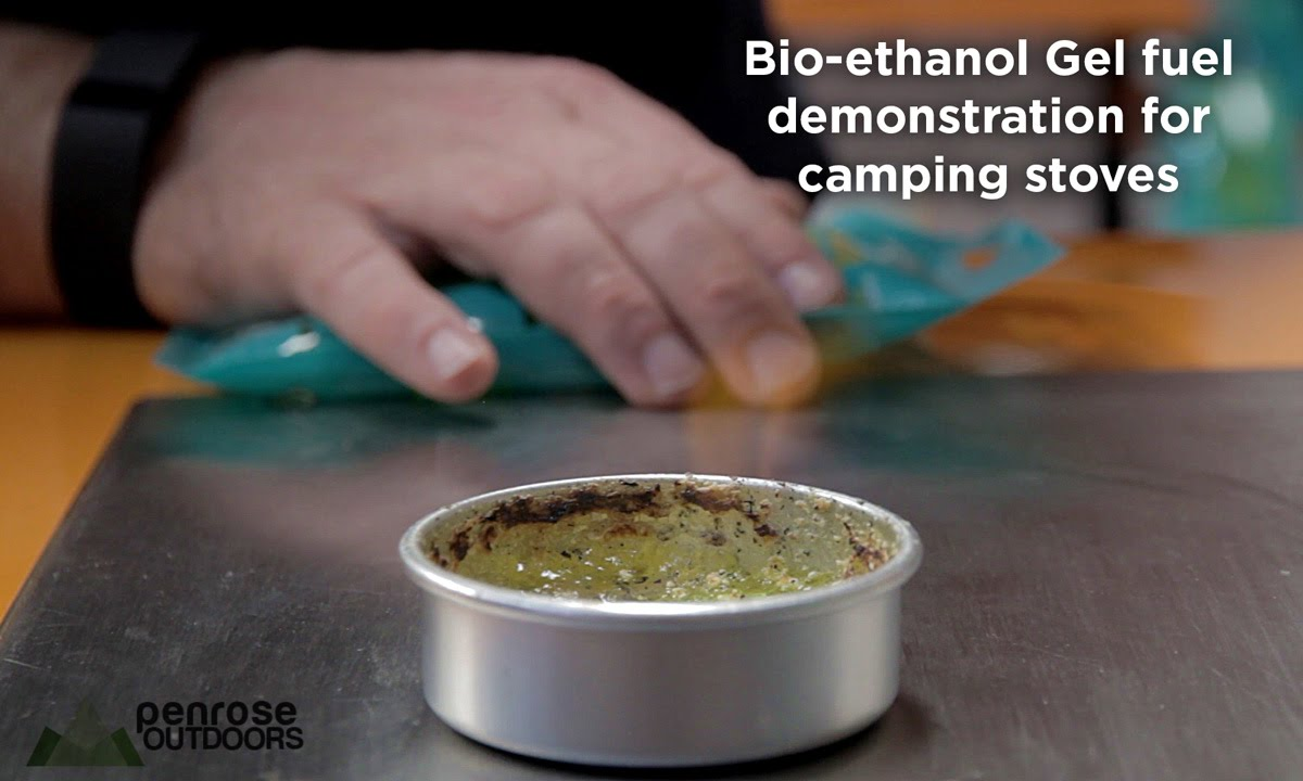 Bio-ethanol gel demonstration for camping stoves - YouTube