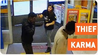 Woman Stops Thieves From Robbing Her Store | Instant Karma