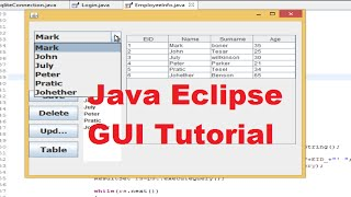 Java Eclipse Gui Tutorial 9 # Populate Jtable Data From Database In Java Eclipse And Sqlite