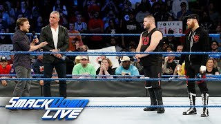 Shane McMahon calls Kevin Owens & Sami Zayn to the ring to fire them: SmackDown LIVE, Nov. 21, 2017