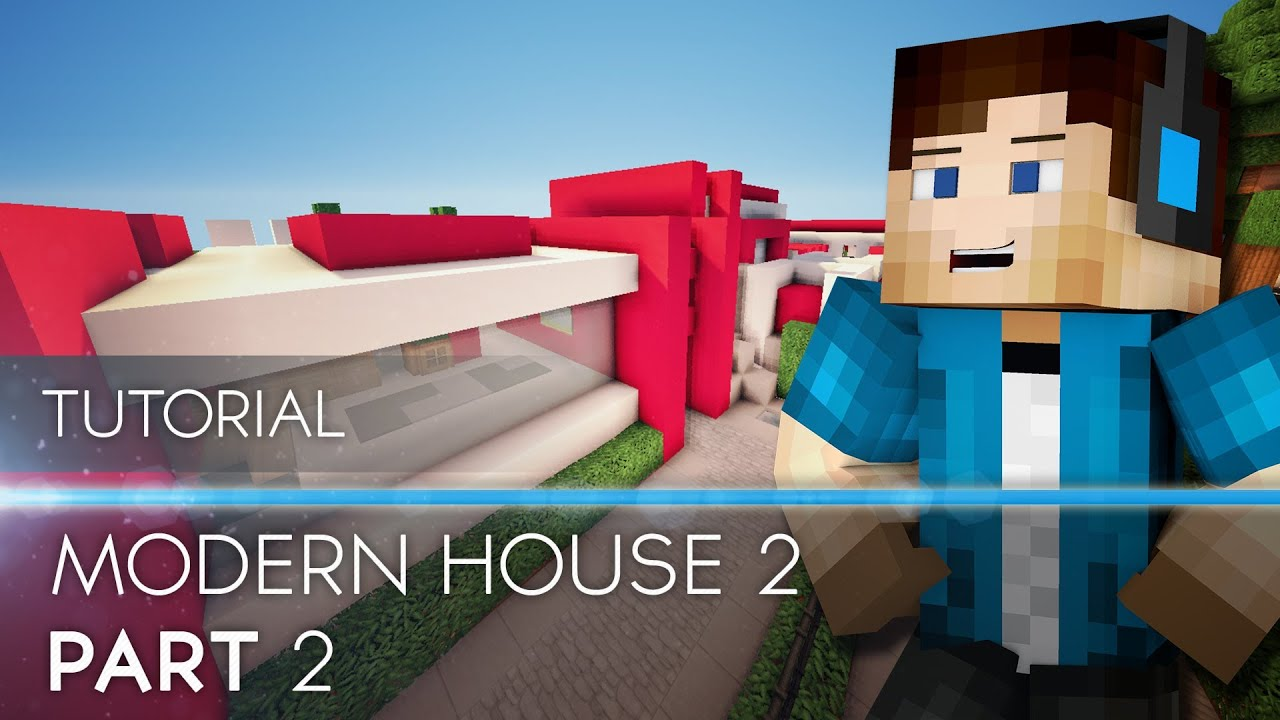 tutorial minecraft modern house 2 part 2 hd youtube