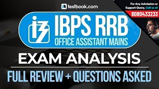 IBPS RRB Office Assistant Mains 2018 | Exam Analysis | Full Exam Review & Questions Asked!