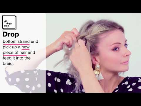 How to Waterfall Braid Hair Tutorial