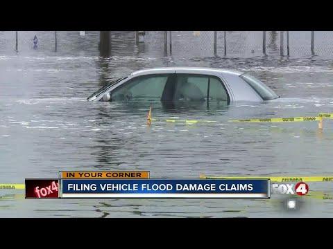 Filing vehicle flood damage claims