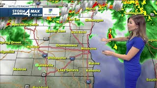 More flooding, possible severe thunderstorm Sunday evening
