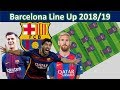 BARCELONA Potential Lineup 2018/19 with Arthur|Barcelona Squad 2018/19