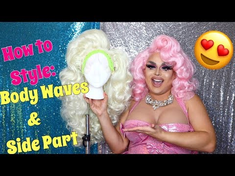 HOW TO STYLE BODY WAVES & SIDE PART | ROLLER, SET, STYLE | JAYMES MANSFIELD