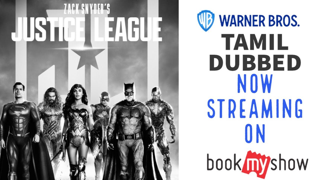 Download Zack Snyder's Justice League tamil dubbed now streaming in Bookmyshow 🤩😍😻 | Warner Bros | Bookmyshow