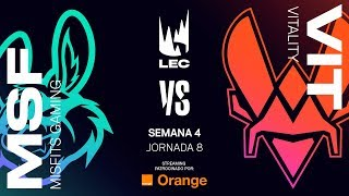 TEAM VITALITY VS MISFITS GAMING | LEC | JORNADA 8 | Summer Split [2019] League of Legends