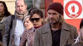EXCLUSIVE : David Beckham and wife Victoria Beckham arriving in Paris