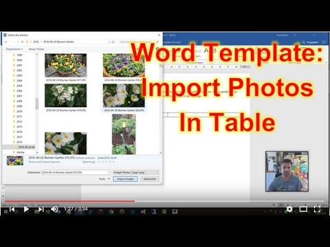Word Template: Import Photos into a Table - YouTube