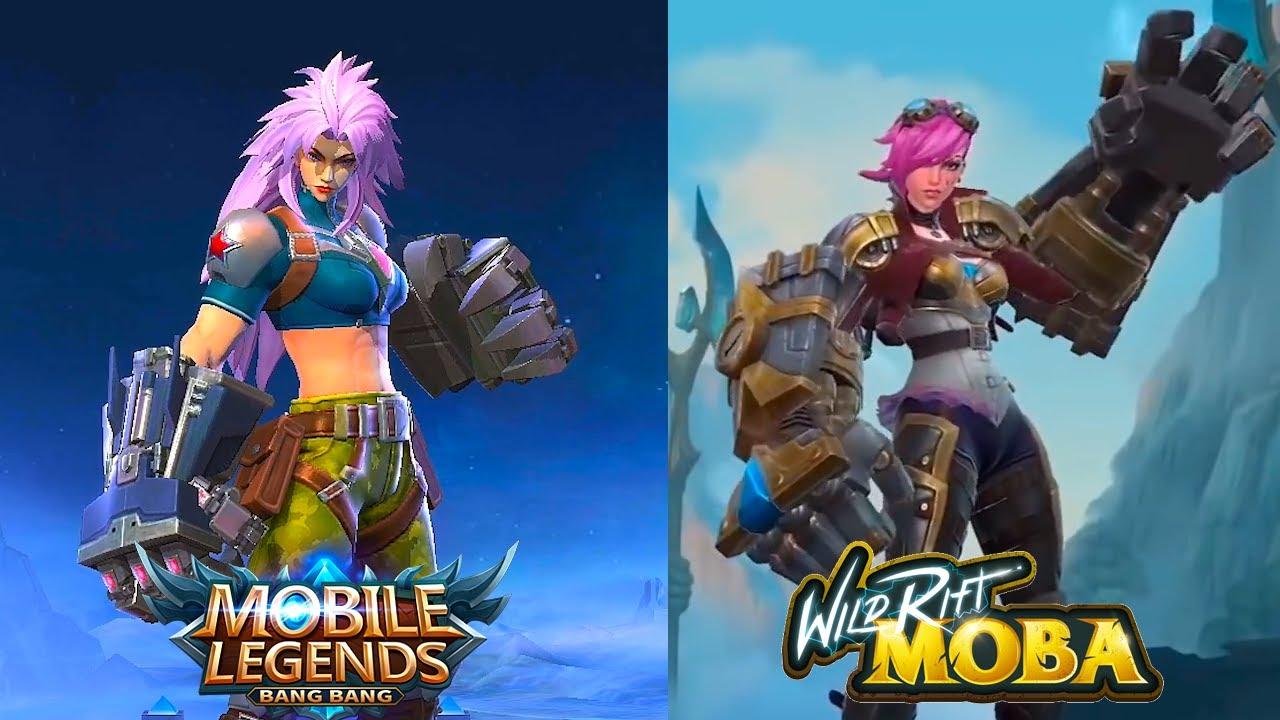 Mobile Legends VS Wild Rift League of Legends - YouTube