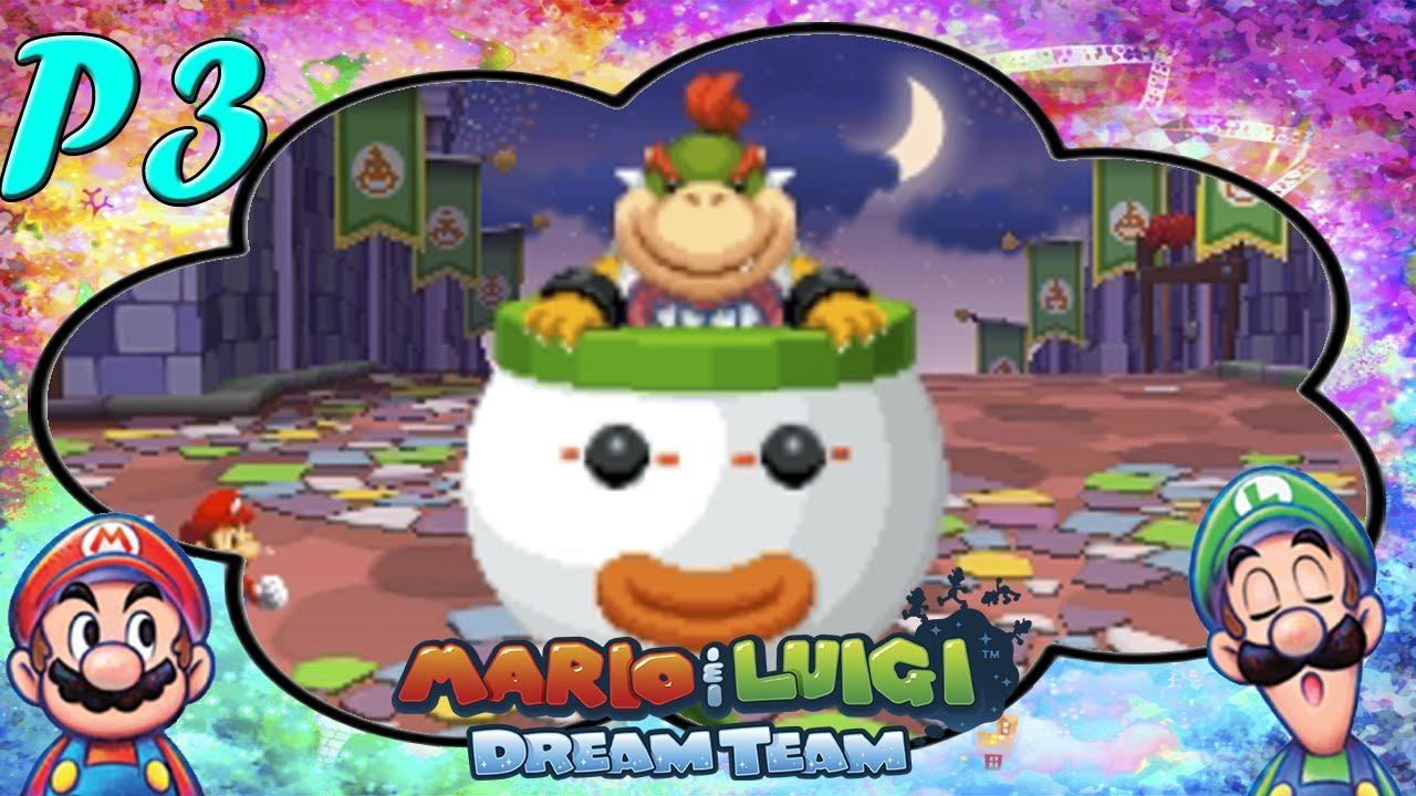 Bowser Jr Fight At The Battle Ring Mario Luigi Dream Team Postgame 3