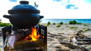OVERNIGHT SOLO CAMPING OΝ THE BEACH // YOLER STOVE