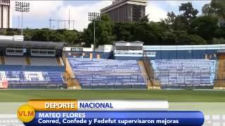 Conred, Confede y Fedefut inspeccionan Estadio Mateo Flores.