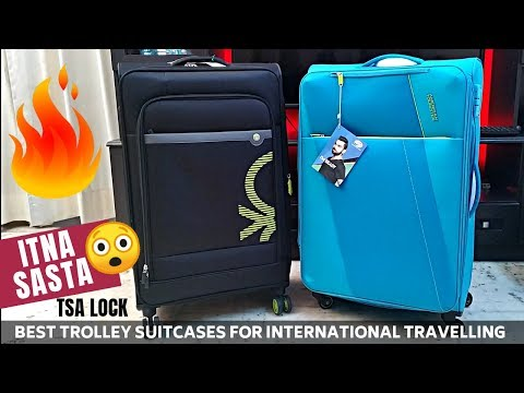 Best Trolley Bags for International Travel | American Tourister Luggage with TSA Lock
