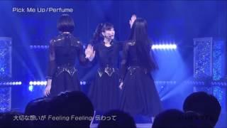 4月8日(金)深夜24:30からオンエアされた日本テレビ系「バズリズム」にPerfumeが登場 スタジオライブで3人は「FLASH」「Pick Me Up」の2曲をパフォーマンス。