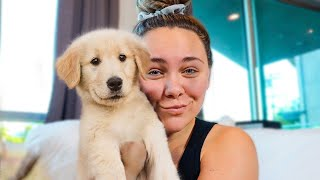 SURPRISING GIRLFRIEND WITH PUPPY!!