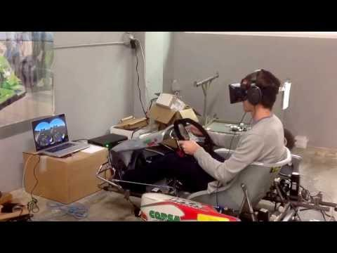 CXC Kart Racing Simulator With Oculus Rift VR - Proof Of Concept