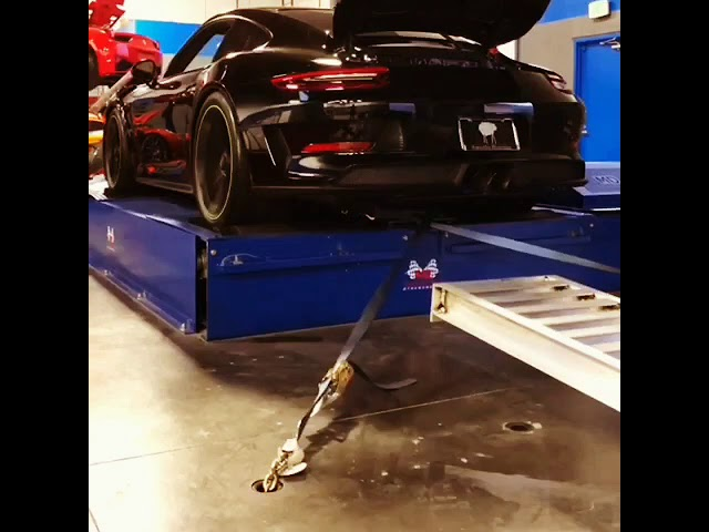 991.2 GT3RS ecu tune with aggressive burbles