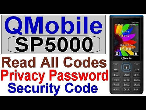 QMobile SP5000 MT6261 Security Code, Privacy Code, Remove