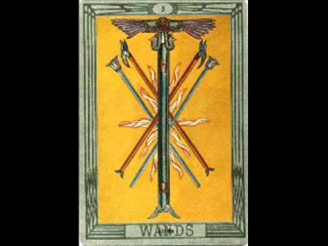 BOOK OF THOTHr Crowley STRIFE FIVE OF WANDS
