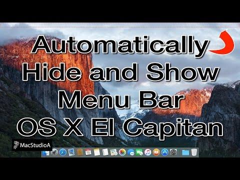 How To Auto Hide Menu Bar Mac OS X El Capitan