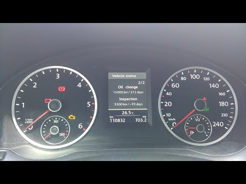 How to Reset Volkswagen Tiguan N5 Oil Change and Inspection Service Warning Message
