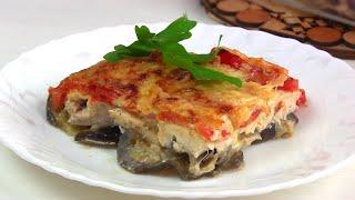 Куриное филе с баклажанами помидорами и сыром в духовке рецепт