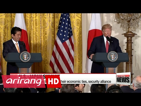 Trump, Abe agree to cement U.S.-Japan economic ties, security alliance