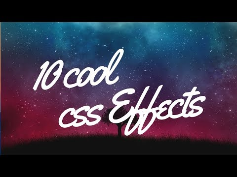 10 stunning cool css effects you must see thumbnail