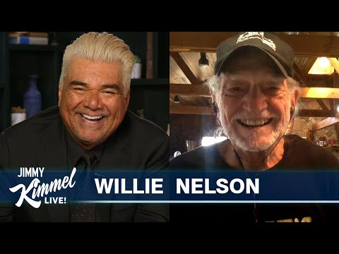 Guest Host George Lopez Interviews Willie Nelson – Lifelong Love of Cannabis & Too High to Perform