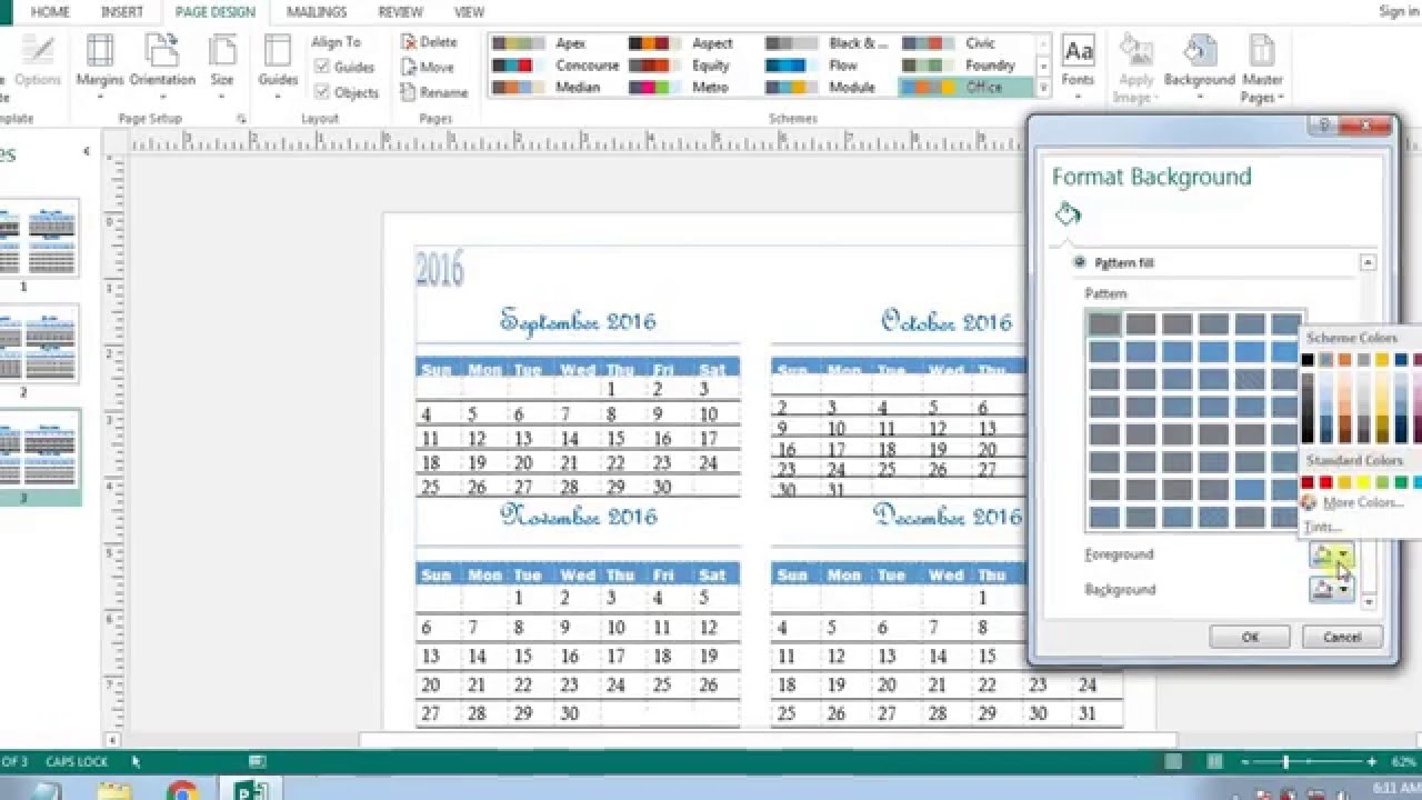 How to create calendars in microsoft publisher 2013 youtube for Does word have a calendar template