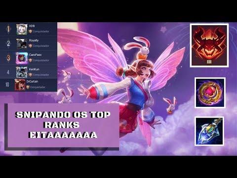 SNIPANDO OS CARAS DO TOP RANK COM MINHA KRIXI! | AoV | 傳說對決 | RoV | Liên Quân Mobile