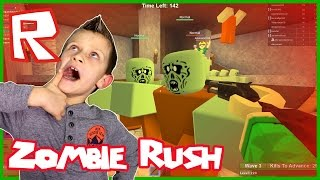 Secret Base Team Work in Roblox Zombie Rush