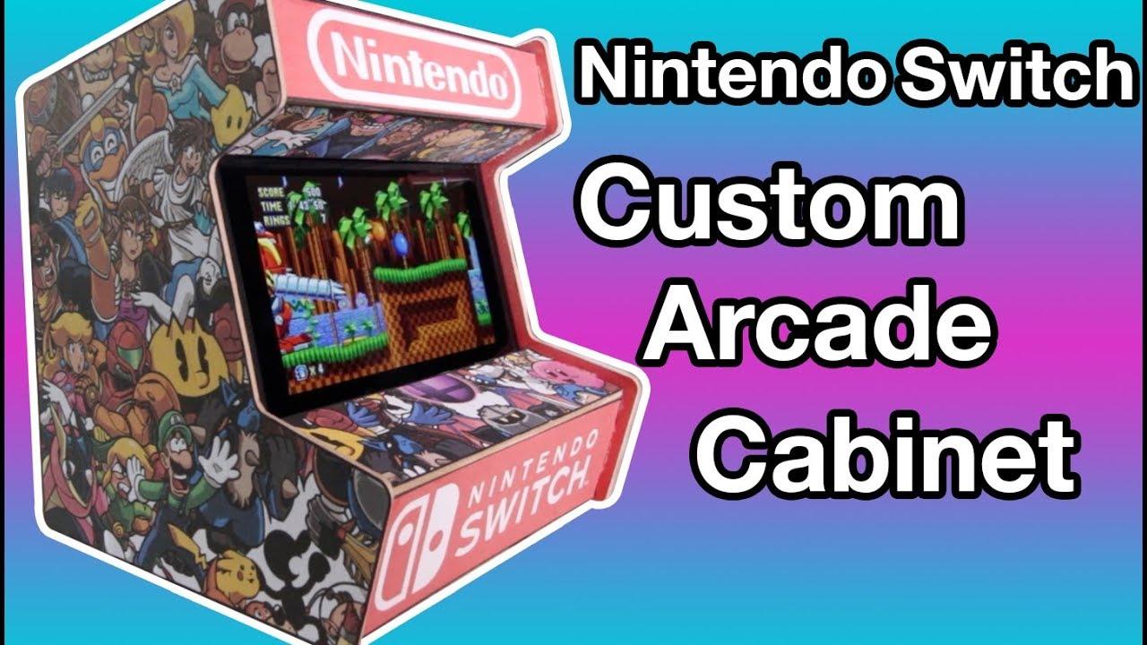 Diy Custom Nintendo Switch Arcade Cabinet Youtube