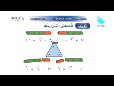 الثاني الابتدائي الفصل الدراسي الأول رياضيات الأعداد المفقودة الحقائق المترابطة Youtube