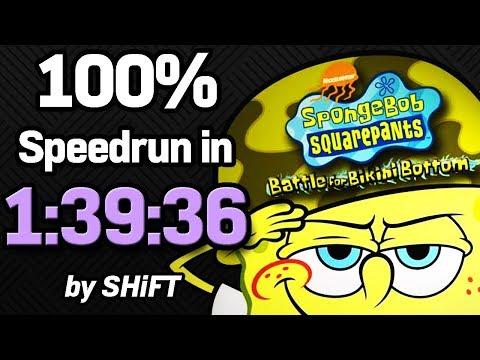 SpongeBob SquarePants: Battle for Bikini Bottom 100% Speedrun in 1:39:36 (WR on 3/28/2018)