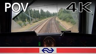 4K TRAIN DRIVER'S POV Amersfoort Vathorst - 't Harde DD-AR LOC 1700 7jul 2019