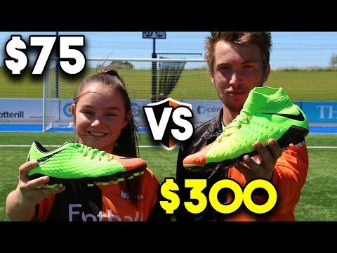 $75 Vs $300 FOOTBALL BOOTS!! Cheap v Pro Nike Hypervenom III