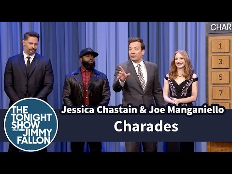 Charades with Jessica Chastain and Joe Manganiello