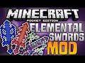 SUPER POWERED SWORDS!!! - Elemental Swords Mod for MCPE - Minecraft PE (Pocket Edition)