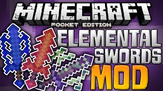 SUPER POWERED SWORDS!!! - Elemental Swords Mod for MCPE - Minecraft PE (Pocket Edition)