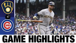 Brewers vs. Cubs Game Highlights (8/12/21)