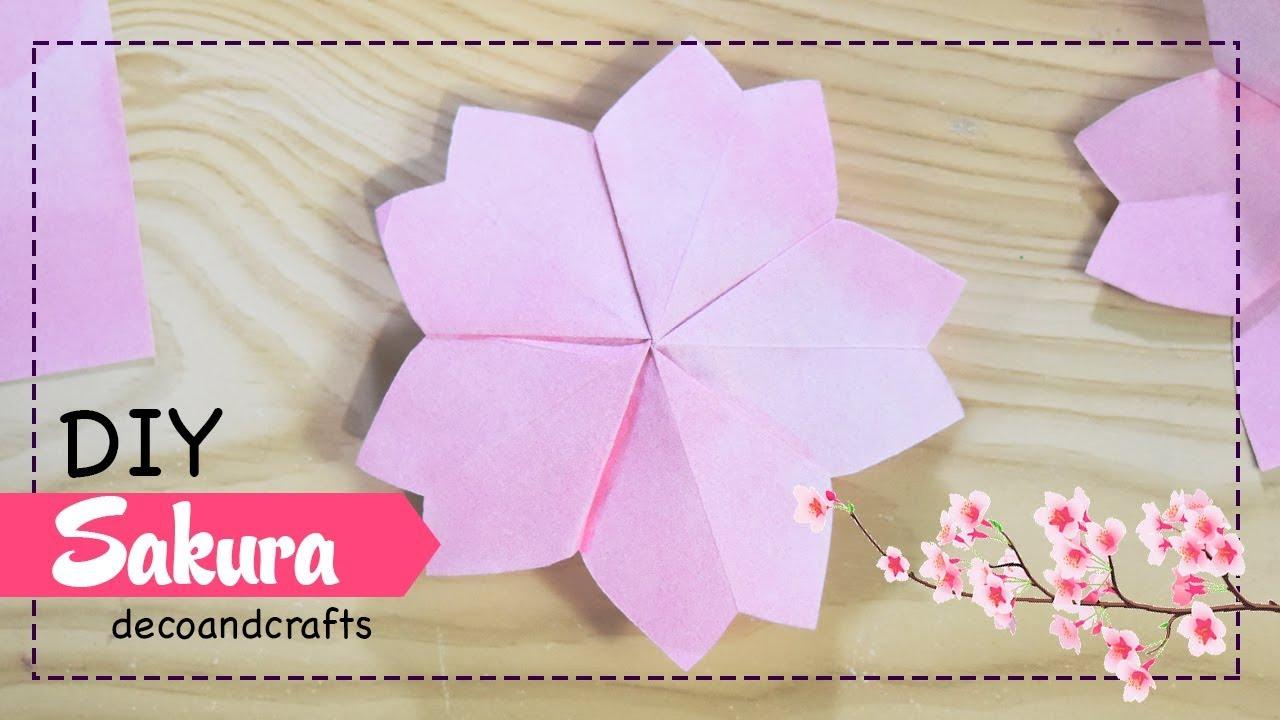 Diy Flores De Papel Cerezo Sakura Decoandcrafts