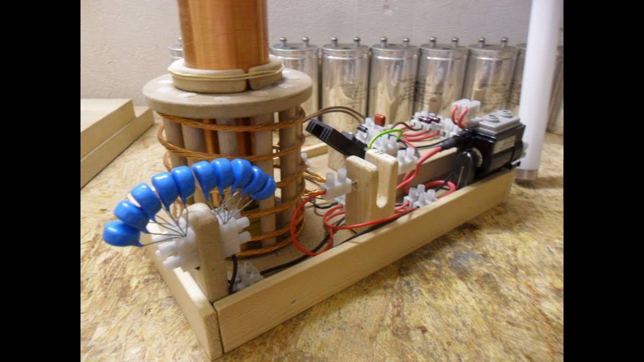 Nikola Tesla Coil Update 7 First Try Out Flyback