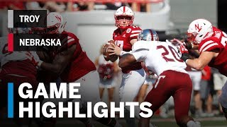 Highlights: Troy at Nebraska Big Ten Football