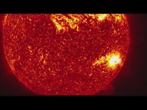 NASA's incredible solar flare video